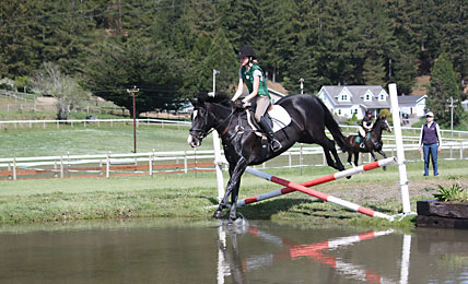 Full Circle Farm - Programs and clinics include extensive water jumps for training.