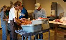 Full Circle Farm Legacy Meats Processing Station.